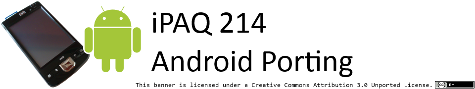 iPAQ 200/210/211/212/214 Android Porting